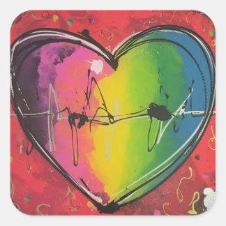 Etiqueta coração, um amor coloré