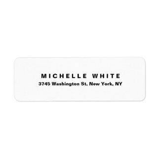 Etiqueta Corajoso preto & branco minimalista moderno