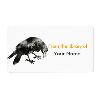 Etiqueta Corvo animal de Halooween do preto da parada