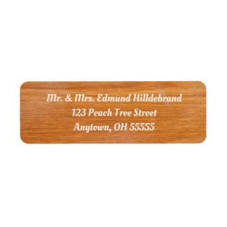 Etiqueta Costume de madeira rústico