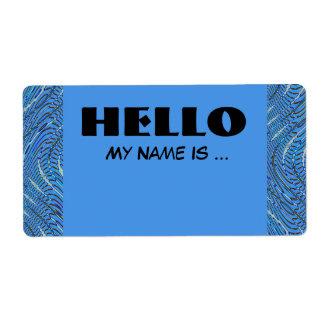 Etiqueta crachá conhecido azul