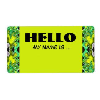 Etiqueta crachá conhecido de verde amarelo
