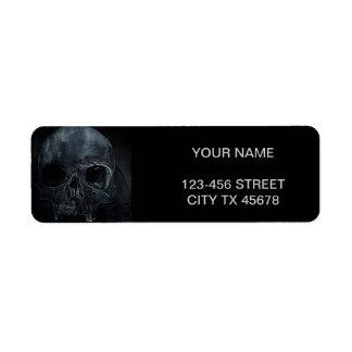 Etiqueta Crânio de esqueleto médico gótico do raio X do