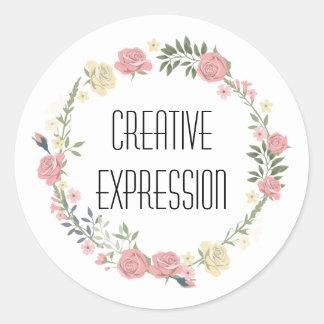 Etiqueta criativa do discurso da expressão