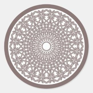 Etiqueta Crocheted do laço do cinzento- Adesivo