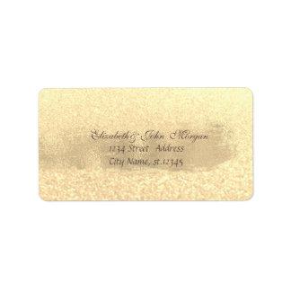 Etiqueta Curso chique moderno do ouro Glittery.Brush do