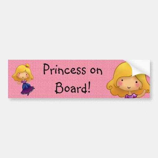 Etiqueta customisable da princesa a bordo adesivo