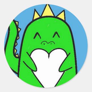 Etiqueta Customisable do amor do dinossauro Adesivo