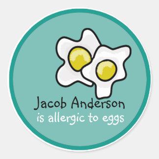 Etiqueta customizável da alergia do ovo