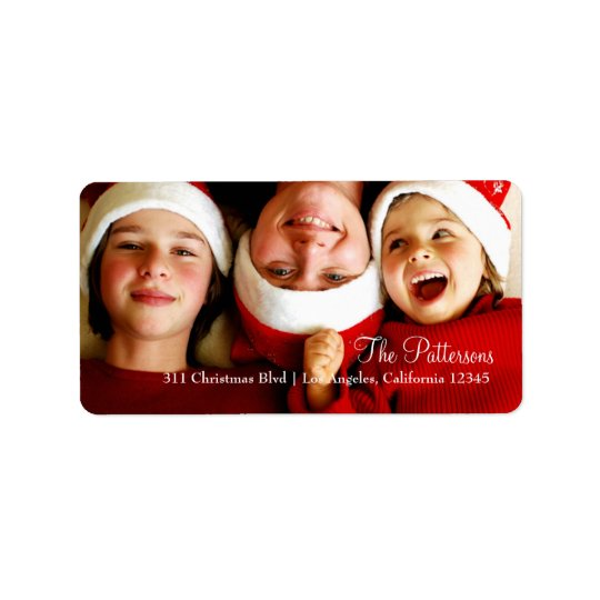 Etiqueta customizável da foto do Natal 311 Etiqueta De Endereço