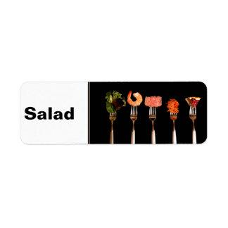 Etiqueta da aba da inserção da pasta da receita