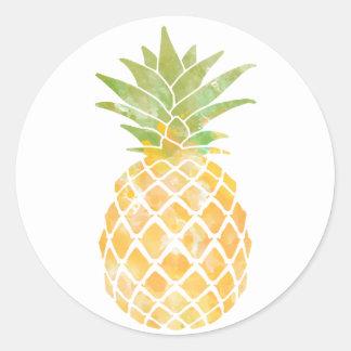 Etiqueta da aguarela   do abacaxi