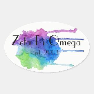 Etiqueta da aguarela do Pi Omega do Zeta