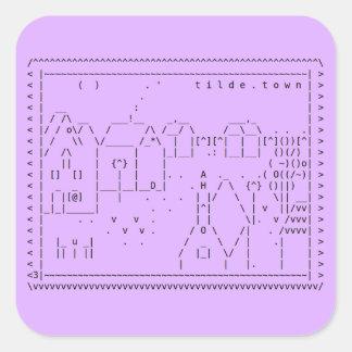 etiqueta da arte de tilde.town ASCII