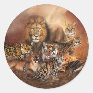 Etiqueta da arte do gato grande