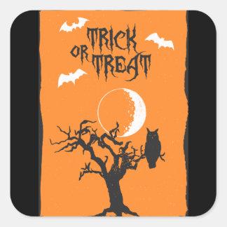 Etiqueta da árvore do Dia das Bruxas