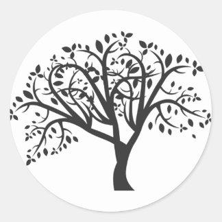 Etiqueta da árvore preto e branco adesivo