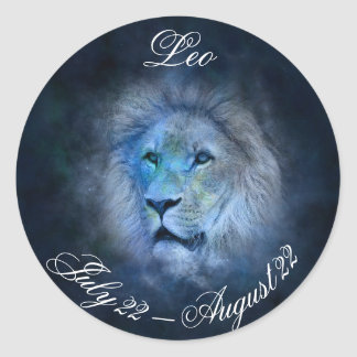 Etiqueta da astrologia do símbolo do leão do sinal