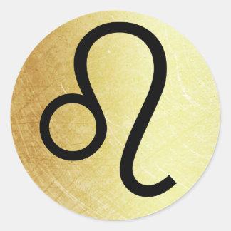 Etiqueta da astrologia do símbolo do sinal do