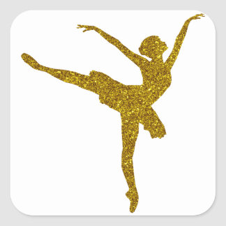 Etiqueta da bailarina do ouro