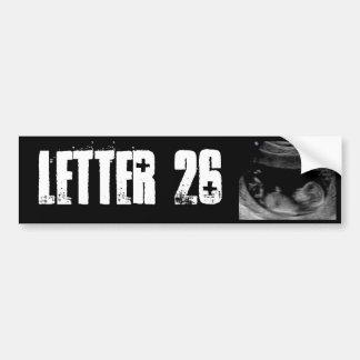 Etiqueta da banda da letra 26 adesivo para carro