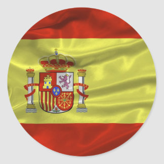 Etiqueta da bandeira da espanha adesivo