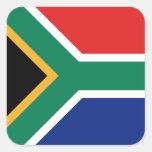 Etiqueta da bandeira de África do Sul Adesivo Em Forma Quadrada