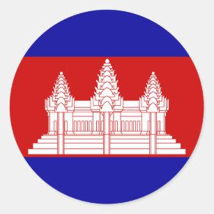 Etiqueta da bandeira de Cambodia