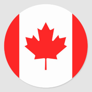 Etiqueta da bandeira de Canadá Adesivos Em Formato Redondos