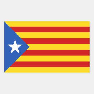Etiqueta da bandeira de Catalonia Estrellada