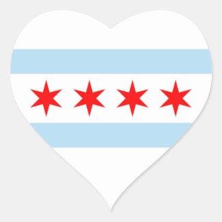 Etiqueta da bandeira de Chicago