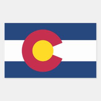 Etiqueta da bandeira de Colorado*