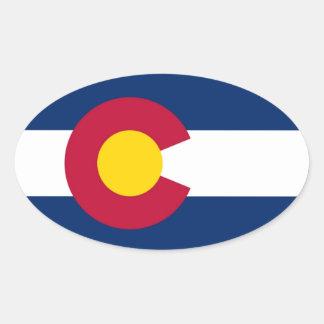 Etiqueta da bandeira de Colorado