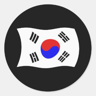 Etiqueta da bandeira de Coreia do Sul Adesivo Redondo