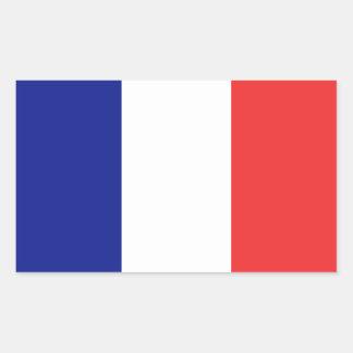 Etiqueta da bandeira de France Adesivo Retangular