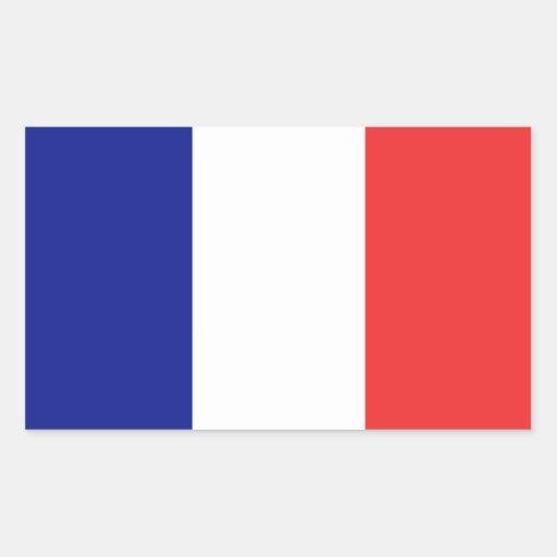 Etiqueta da bandeira de France Adesivos Em Forma Retangular