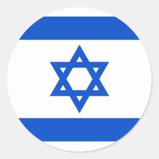 Etiqueta da bandeira de Israel Adesivo Em Formato Redondo