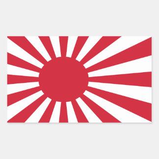 Etiqueta da bandeira de Japão Adesivo Retangular