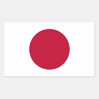 Etiqueta da bandeira de Japão Adesivos Em Forma Retangular