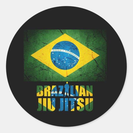 Artesanato Tiradentes Mg ~ Etiqueta da bandeira de Jiu Jitsu do brasileiro Adesivo Zazzle