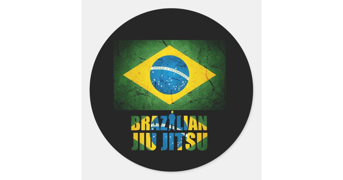Artesanato Russo Em Sp ~ Etiqueta da bandeira de Jiu Jitsu do brasileiro Adesivo Zazzle