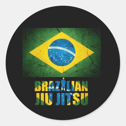 Etiqueta da bandeira de Jiu Jitsu do brasileiro Adesivos