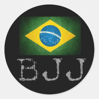 Etiqueta da bandeira de Jiu Jitsu do brasileiro de Adesivo