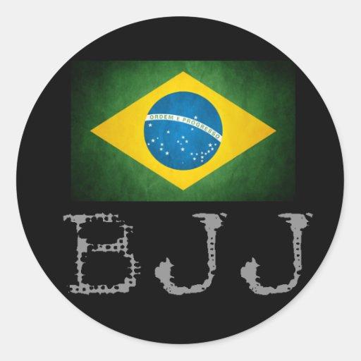 Etiqueta da bandeira de Jiu Jitsu do brasileiro de Adesivos