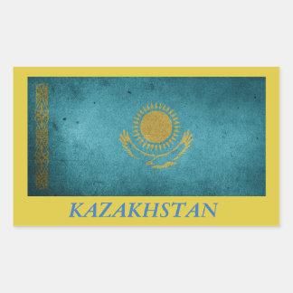 Etiqueta da bandeira de Kazakhstan
