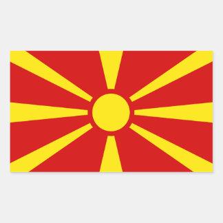 Etiqueta da bandeira de Macedónia