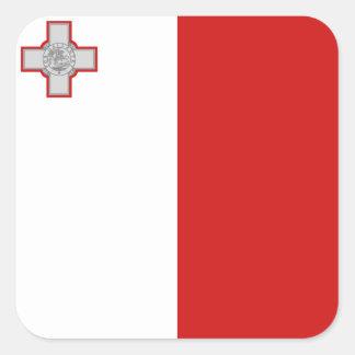 Etiqueta da bandeira de Malta