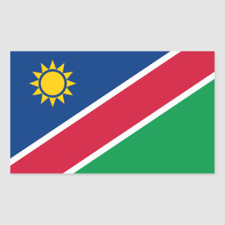 Etiqueta da bandeira de Namíbia