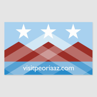 Etiqueta da bandeira de Peoria