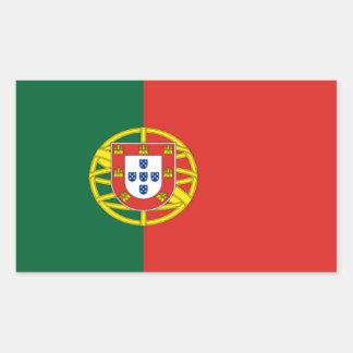 Etiqueta da bandeira de Portugal Adesivo Retangular